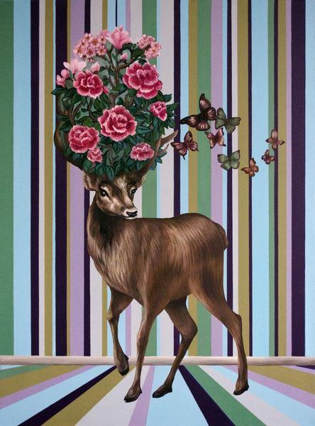 oksana-reznik-flower-deer