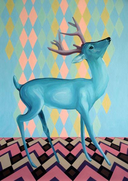 oksana-reznik-turquoise-deer