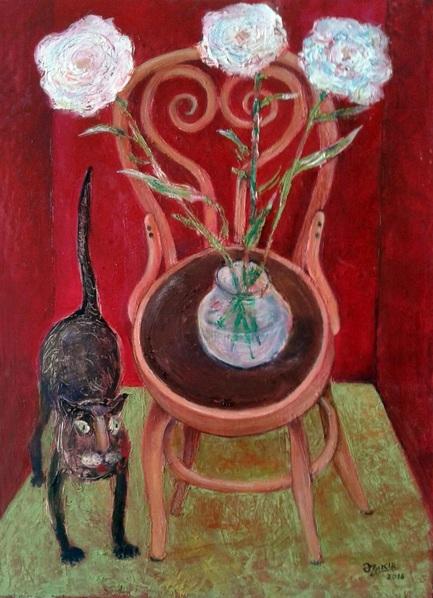 zakir-ahmedov-cat-and-flowers
