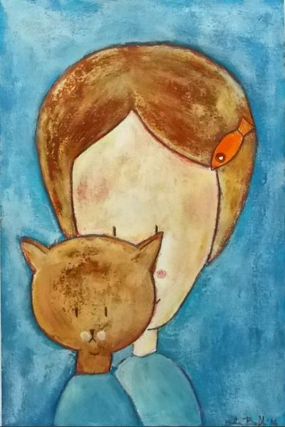 silvia-beneforti-girl-with-cat-original-painting