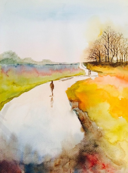 marta-dyer-smith-wet-evening-walk-in-suffolk
