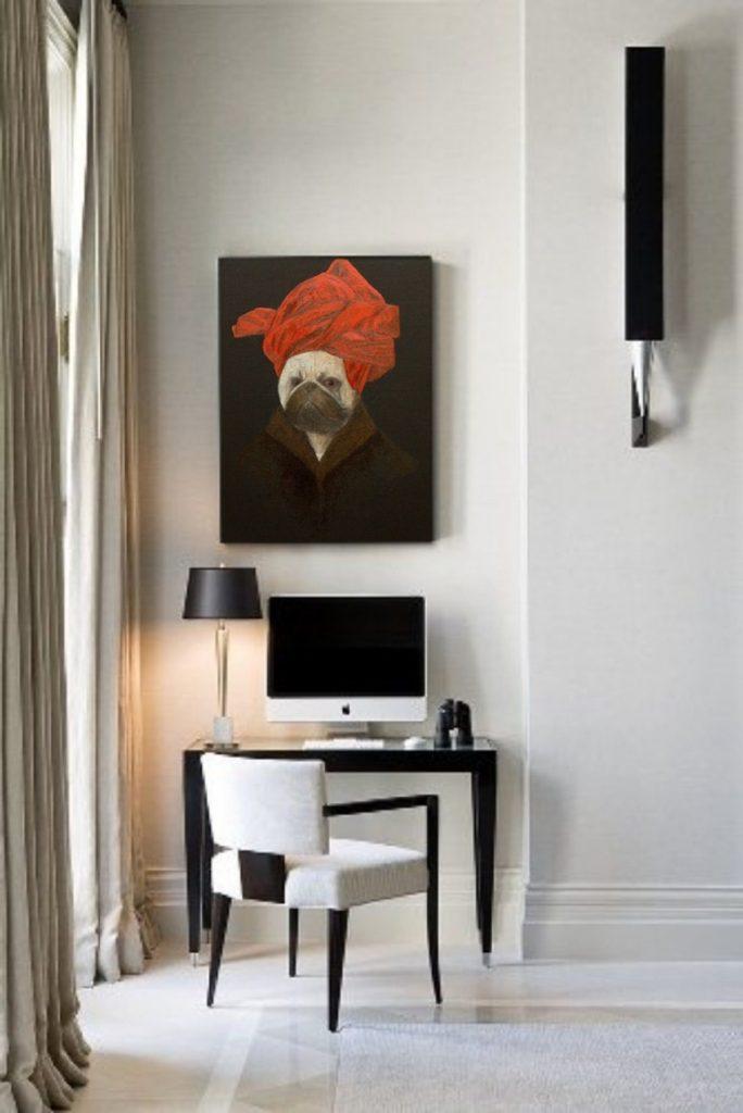 pug-van-eyck-portrait-of-a-pug-in-a-red-turban-interior-art-artwork-painting-ustymenko