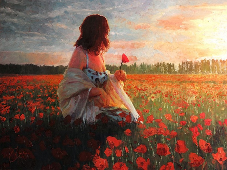christopher-clark-love-in-a-field-of-poppies