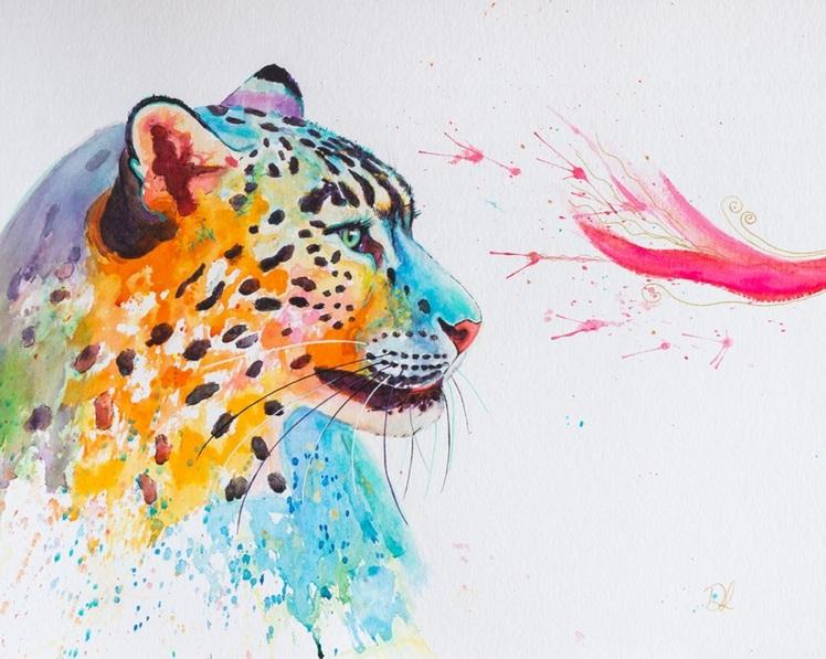 denise-laurent-colourful-snow-leopard