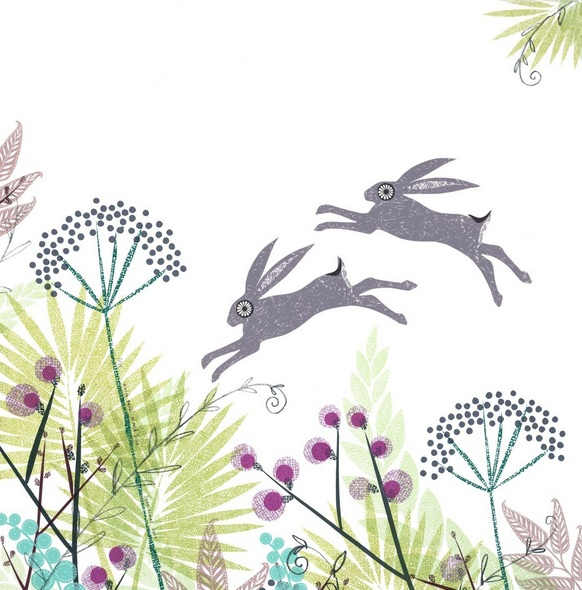 Jane Ormes - March hares in mid June
