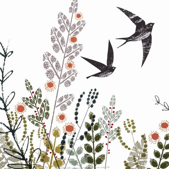 Jane Ormes - Swallows swooping swiftly over Swansea