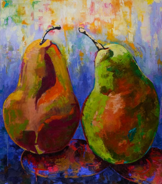 margaret-zox-brown-pair-of-pears