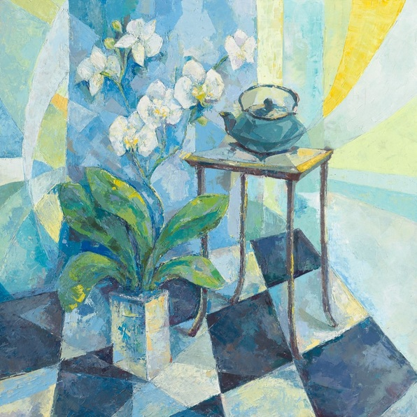 paola-minekov-still-life-with-orchids-and-a-teapot