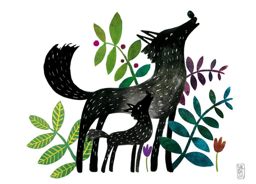 Carmen Saldana - Wolf & cub