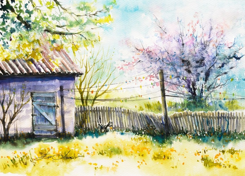 Eve Mazur - Backyard at spring