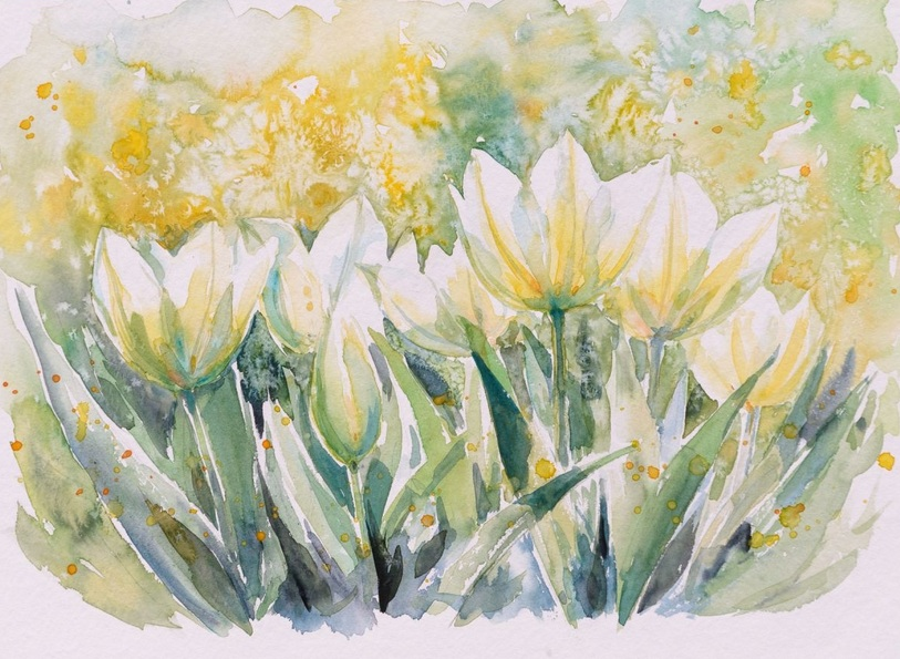 Eve Mazur - White tulips