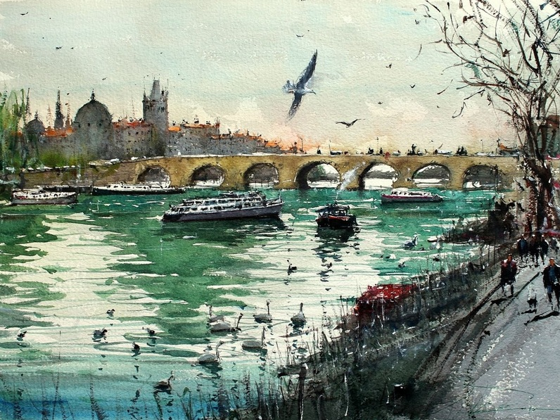 Maximilian Damico - Under the Bridge in Prague II