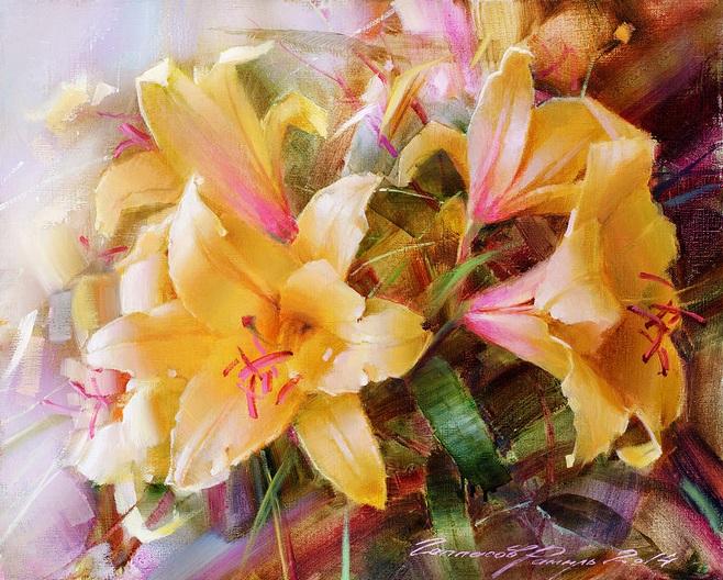 Ramil Gappasov - Yellow Lilies