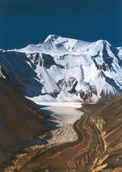 Valeriy Grachov - Communism Peak. Over the glacier.