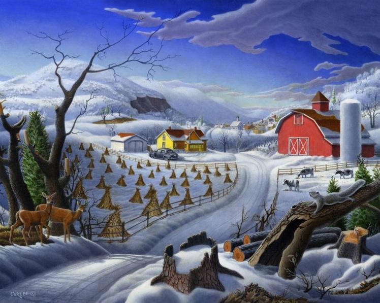 Walt Curlee - Rural Winter Landscape