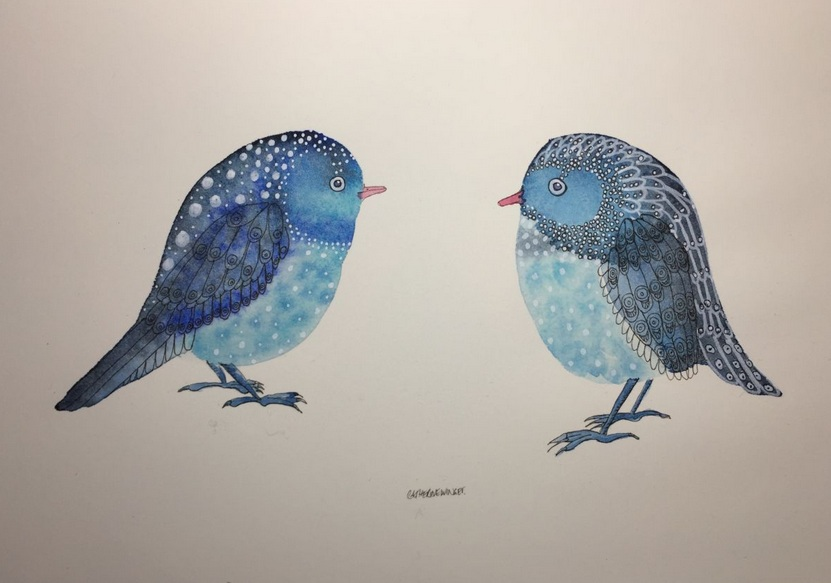 Catherine Winget - Blue Birds 1