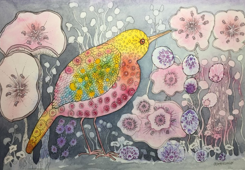 Catherine Winget - Pink and Orange bird