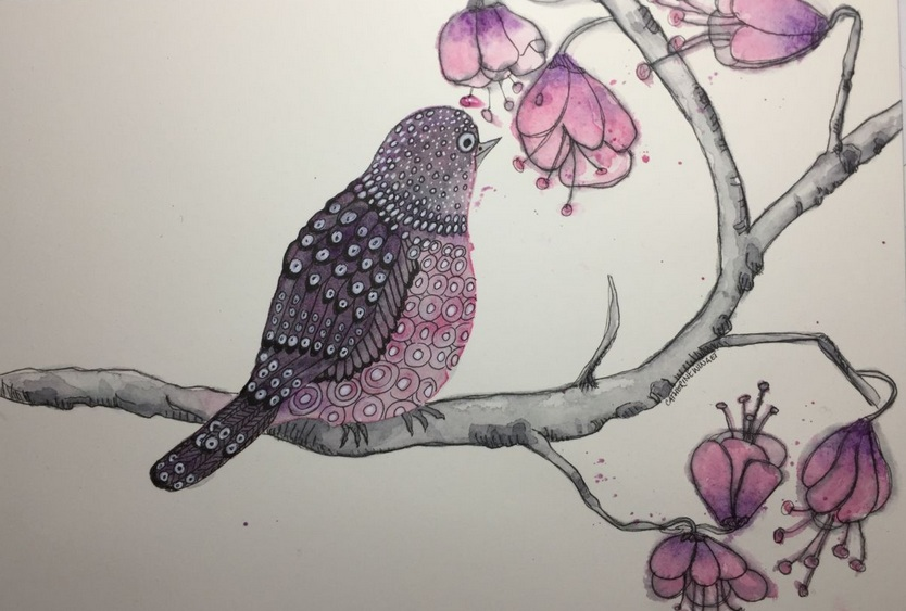 Catherine Winget - Purple Bird