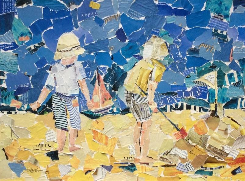 Helen Norman - Building the sandcastle