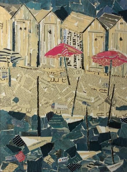 Helen Norman - The pink umbrellas