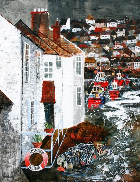 Jackie Ward - Fishermen's Cottages, Polperro, Cornwall