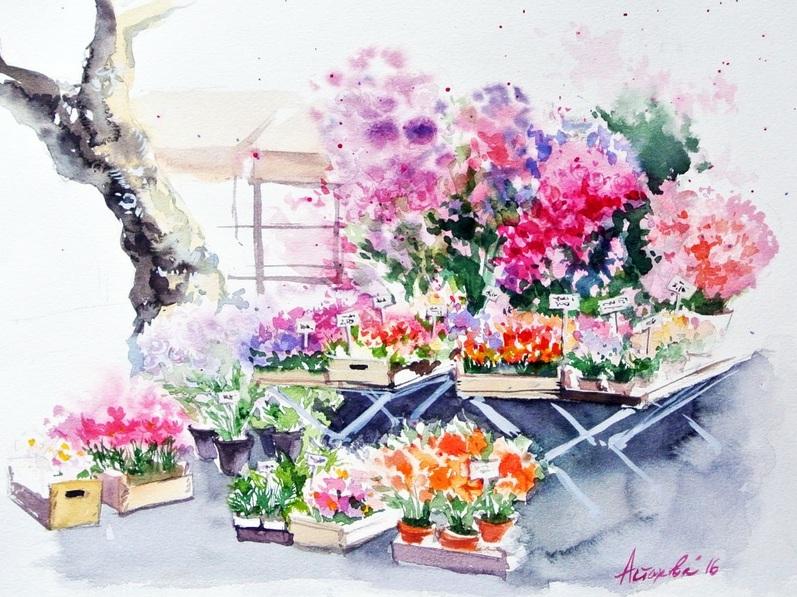 Ksenia Astakhova - Flowers' Market in Aix-en-Provence