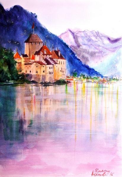 Ksenia Astakhova - Sunset in Chillon