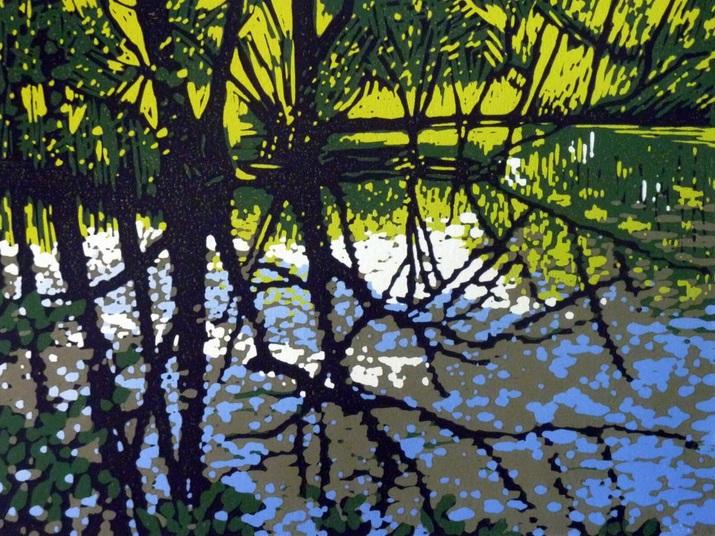 Alexandra Buckle - Poolside Trees