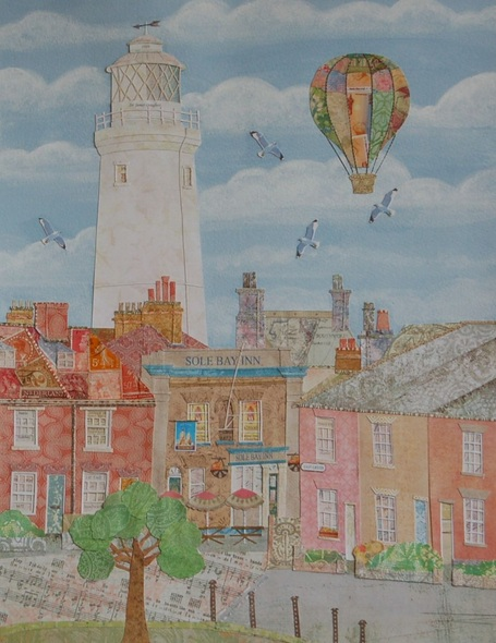 Beth Lievesley - Southwold Lighthouse, seen from Adnams Brewery