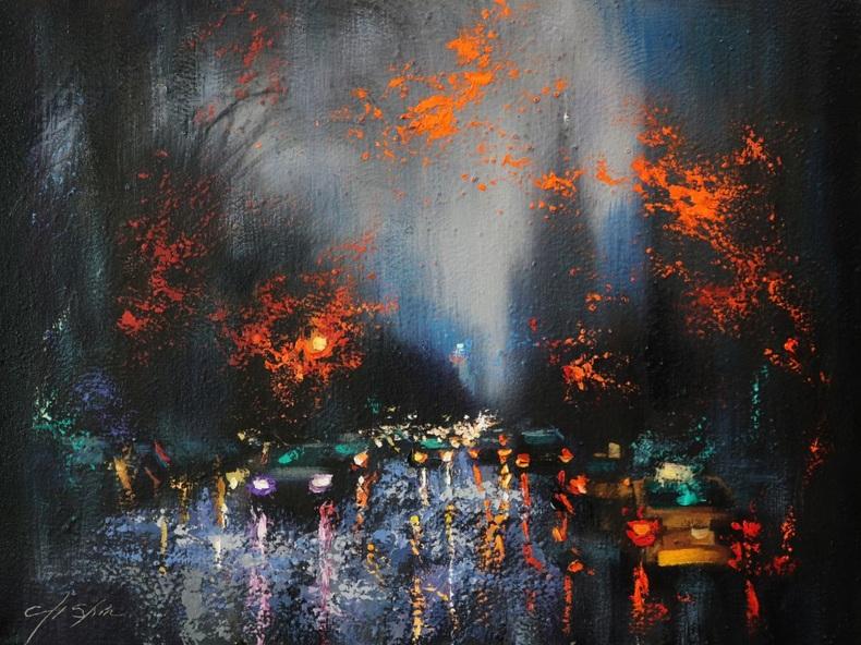Chin H Shin - Rainy Day 6-Still Passing Central Park