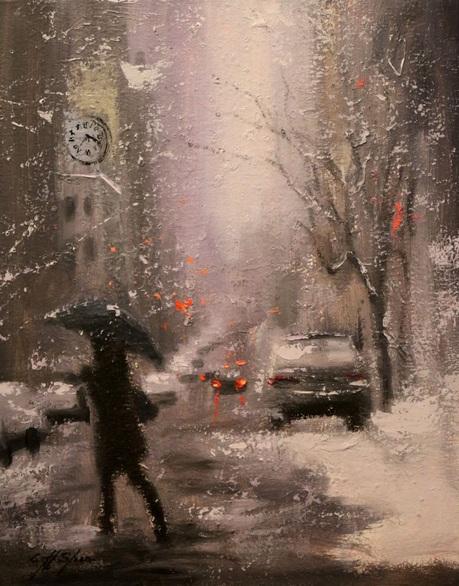 Chin H Shin - Snow Day Walking