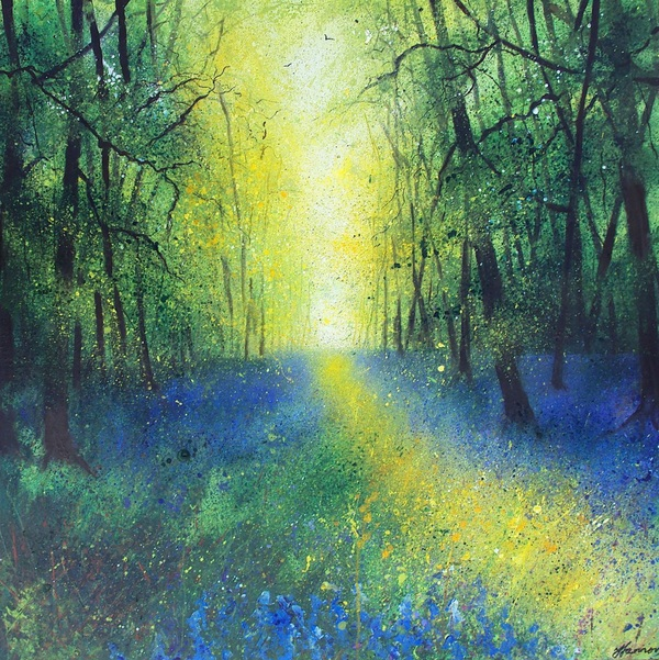 Into Autumn Fields - Bluebell Woodland Large