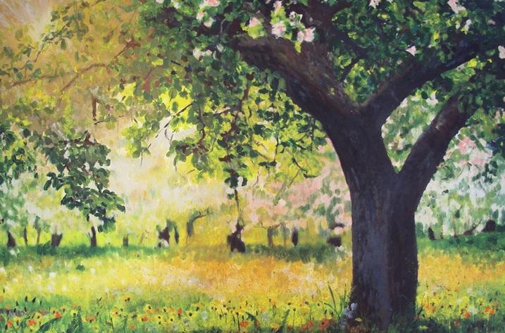 Into Autumn Fields - Summer Orchard Dandelions