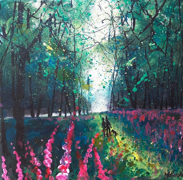 Into Autumn Fields - Walk through Foxglove woods