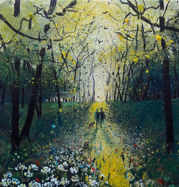 Into Autumn Fields - Walking through Wild Garlic Woods