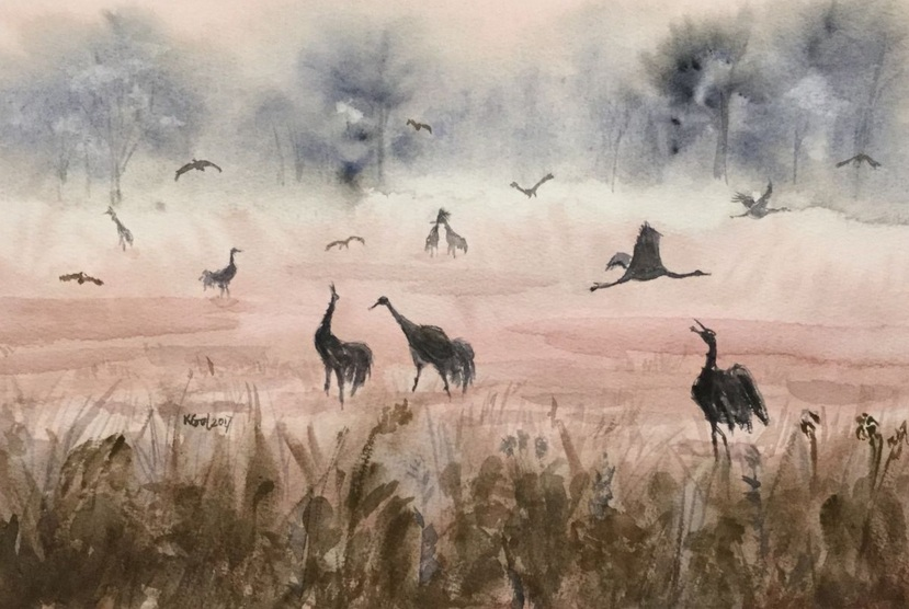 Katarzyna Goleniowska - Common cranes II