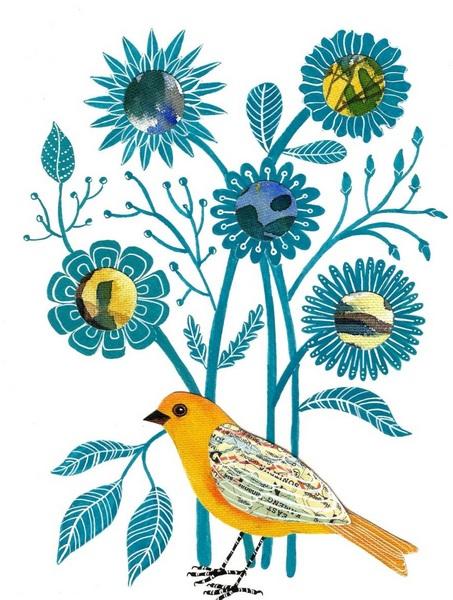 Ketki Fadnis - Floral Bird