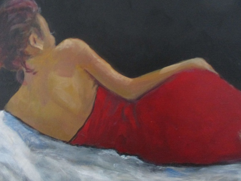 Rosalind Roberts - Reclining in red