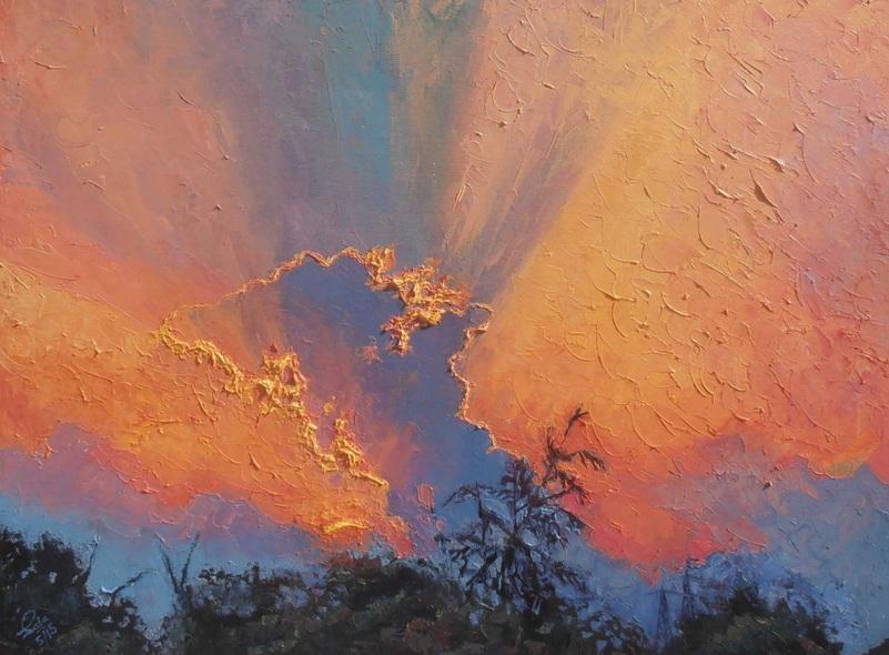 Saba Qayoom Leghari - Cloudy Sunset