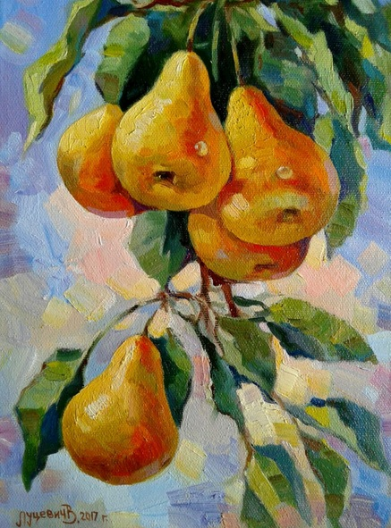 Vladimir Lutsevich - Branch with pears