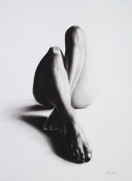 Ashvin Harrison - Nude Woman Charcoal Study 39