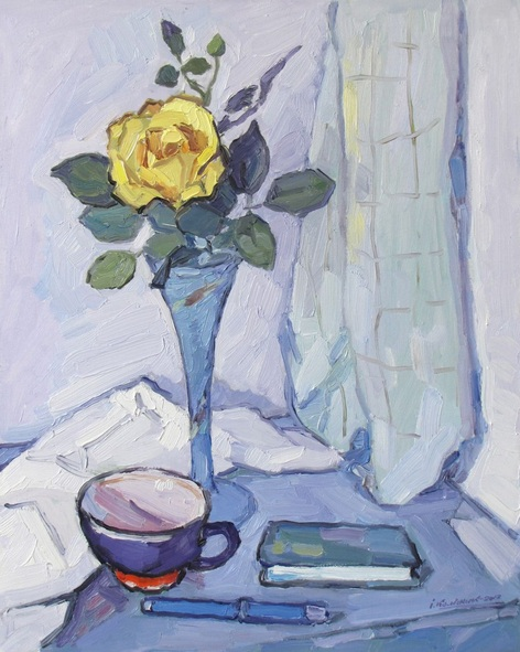 Ivan Kolisnyk - Still Life with Yellow Rose