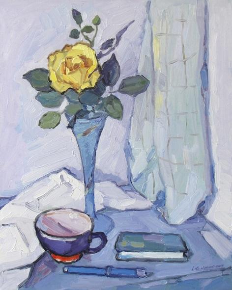 Ivan Kolisnyk - Still Life with Yellow Rose