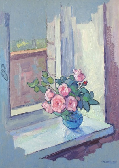 Ivan Kolisnyk - Tea Roses On The Windowsill