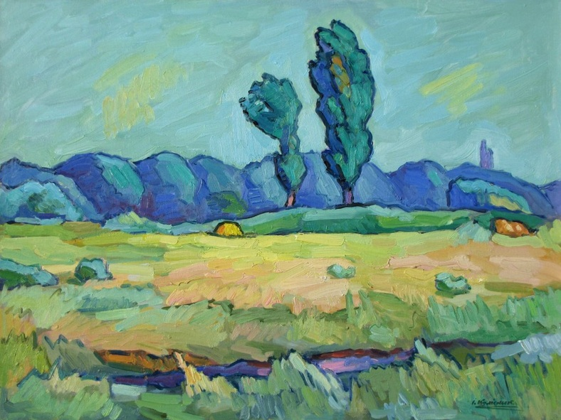 Ivan Kolisnyk - Two Poplars