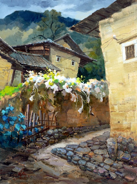 Jiang Zi - Spring in Chinese village