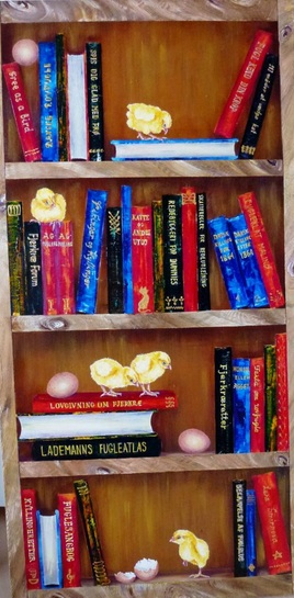 Lena Smirnova - Bookcase with chickens II
