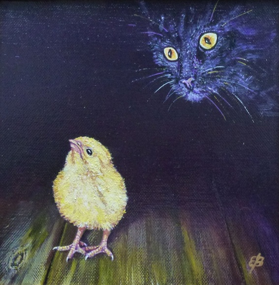 Lena Smirnova - Chick and cat II