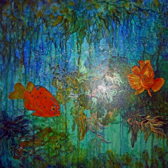 Polly Ballantine - Coral reef 3 Kelp forest