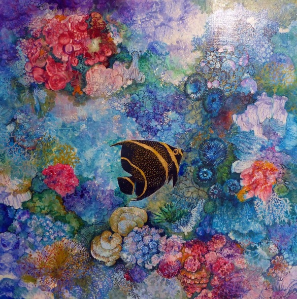Polly Ballantine - Marine Angelfish in Coral Reef 1